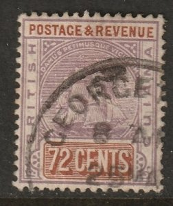 British Guiana 1889 Sc 146 used Georgetown cancel