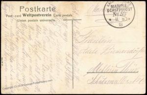 Germany WWI 1918 Navy SMS Posen MSP53 Feldpost Patriotic Cover 75480