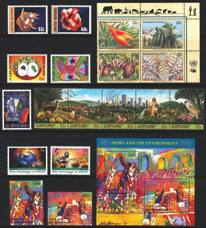 United Nations NY 1996 Year Set #671-689 Includes Souvenir Sheet MINT NH