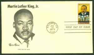 MARTIN LUTHER KING JR FDC TUDOR HOUSE CACHET