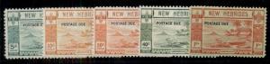 NEW HEBRIDES British #J6-10, Complete set, og, NH except J10LH, VF,