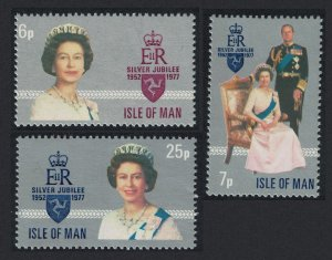 Isle of Man Royal Silver Jubilee 3v SG#94-96