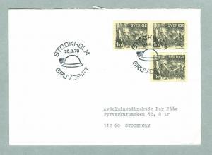 Sweden. FDC 1970. Mining . Engraver: Cz.Slania. Addressed