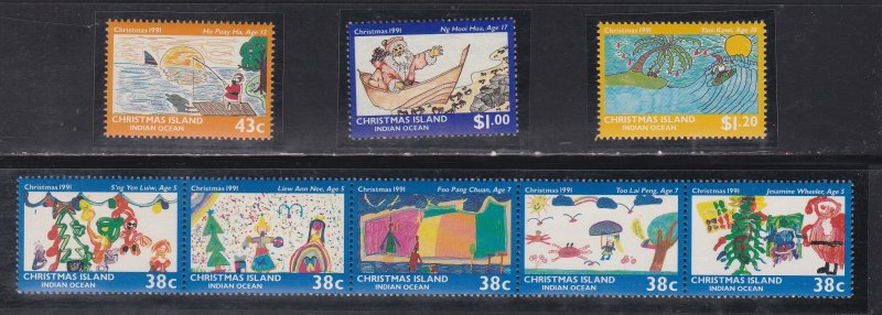 Christmas Island #  315-318, Christmas - Children's Drawings, NH, 1/2 Cat.