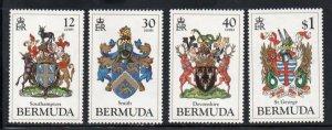 Bermuda Sc 457-60 1984 Coat of Arms stamp set mint NH