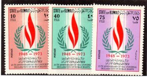 KUWAIT 594-6 MH SCV $4.85 BIN $1.95 HUMAN RIGHTS