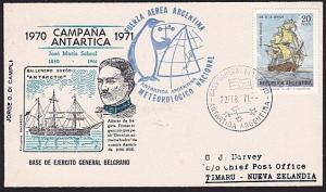 ARGENTINE ANTARCTIC cover 1971..............................................8204