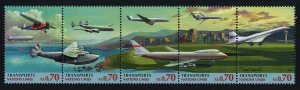 United Nations Geneva 311a MNH Transportation, Aircraft, Concorde, Boeing 747