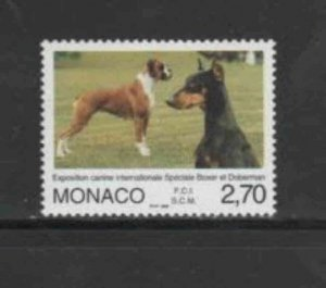 MONACO #2069A 1998 INTERNATIONAL DOG SHOW MINT VF NH O.G