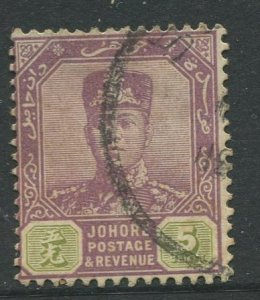 STAMP STATION PERTH Johore #90 Sultan Ibrahim Definitive  Wmk 3  Used 1918-1920