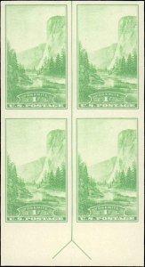 United States #766, Complete Set, Margin Block of 4, Arrow at Bottom, 1935, M...