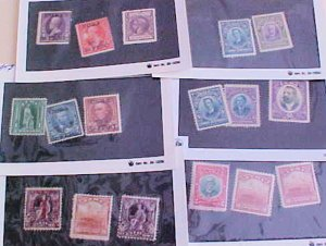 CUBA STAMPS 13 DIFF. #171/250  MINT LIGHT HINGED  cat.$102.00