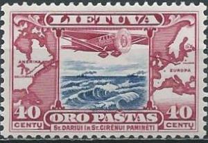"Lithuania C80 (mh) 40c plane ""Litunaica"" (1934)"