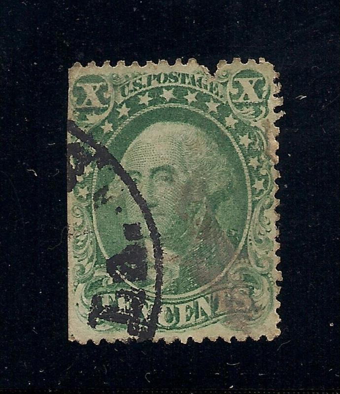 US#31 Green - Type I - Used - Cat:$1,250.00
