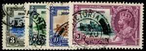 HONG KONG SG133-136, 1935 Silver Jubilee COMPLETE SET, FU. Cat £18.
