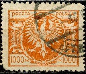 Poland; 1923: Sc. # 169A: O/Used Single Stamp