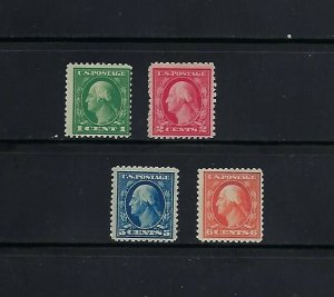 SERIES OF 1917-19 FLAT PLATE PRINTNG PERF 11 MNH SINGLES - SCV is $43.50 - W38