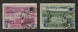 P396 - MONTENEGRO CRNA GORA Overprint: Democratic Federation Jugoslavia