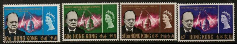 HONG KONG SG218/21 1966 CHURCHILL COMMEMORATION MTD MINT