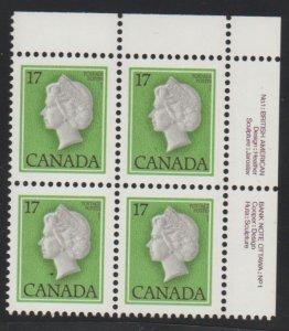 Canada 789 queen Elizabeth II - MNH - block