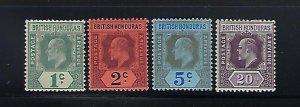 BRITISH HONDURAS SCOTT #58-61 1902-04  EDWARD VII WMK 2 - MINT LIGHT HINGED