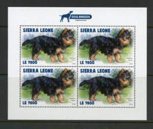 SIERRA LEONE 2018 DOG BREEDS YORKSHIRE TERRIER SHEET MINT NH