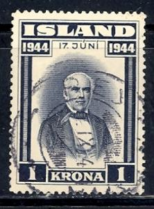 Iceland 243 used SCV $ 1.00 (RS)