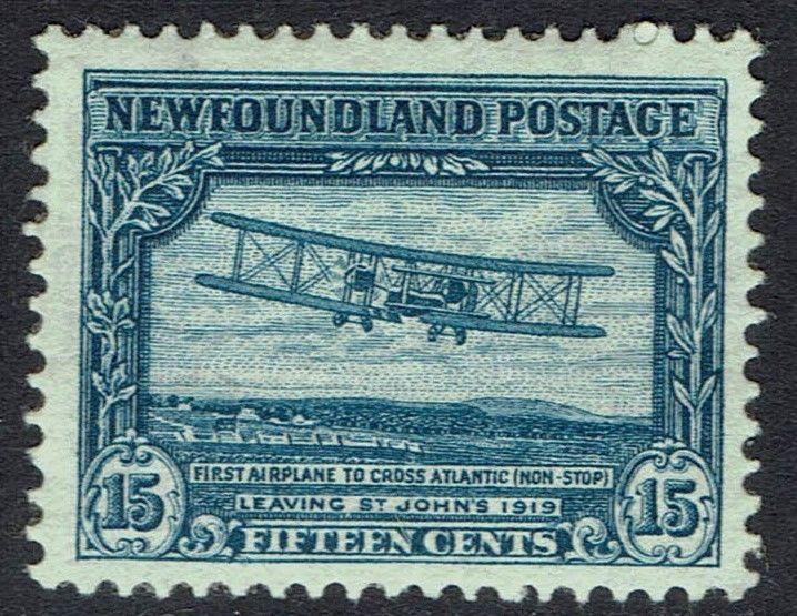 NEWFOUNDLAND 1931 AIRPLANE 15C RE- ENGRAVED