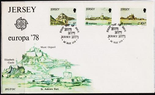 Jersey. 1978 FDC. Europa. Fine Used
