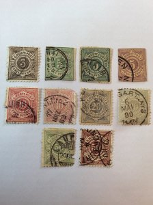 Wurttemberg small collection of 10.