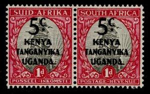 KENYA UGANDA TANGANYIKA GVI SG151, 5c on 1d grey & carmine, M MINT.