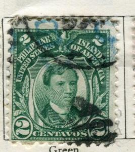 PHILIPPINES:  1908 early portrait issue used 2c. value