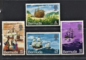 STAMP STATION PERTH Bermuda #280-283 Sailing Ships MLH CV$8.00