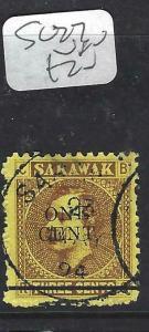 SARAWAK  (P2704B) BROOKE  1C/3C  SG27  SON  CDS  VFU