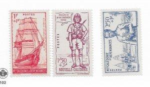 New Caledonia #B10-12 MH - Stamp - CAT VALUE $4.80