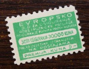 Croatia c1942 Railway Baggage NDH Insurance WWII Tax Revenue Stamp  C6