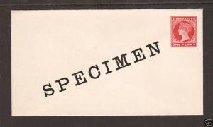 Sierra Leone H&G B1a mint 1898 1p carmine Queen Victoria SPECIMEN Envelope, VF