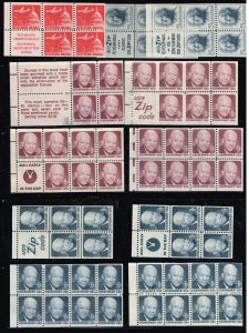 US STAMP BOOKLET PANE UNUSED/NG/D.OG STAMPS COLLECTION LOT