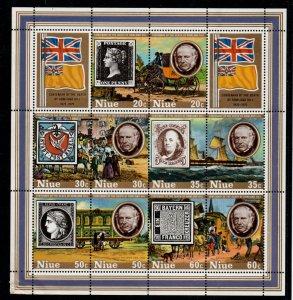 Niue Sc 245c 1979 Sir Rowland Hill stamp sheet mint NH