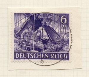 1944-45 GERMANY used in LUXEMBOURG Fine Used 6p. Postmark Piece 241804