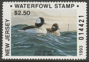 U.S.-NEW JERSEY 21-22, 21b-22b STATE DUCK HUNTING PERMIT STAMPS. MINT, NH. VF