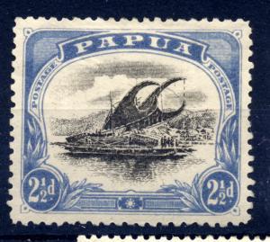 Papua 1907 - 1910 sg 69 2 1/2d ultram and black, no fraction bar at left - LM