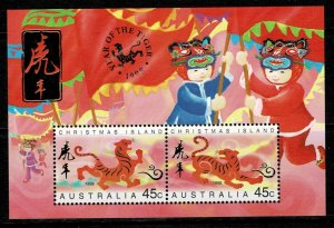 Christmas Island 1998 Year of the Tiger MNH M/s