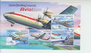 2017 Cocos Islands Aviation SS (Scott 395a) MNH
