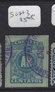 COLOMBIA (P1802B)  AR REGISTER  SC H3    VFU