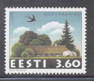 Estonia Sc 344 1998 Beautiful Homes stamp mint NH