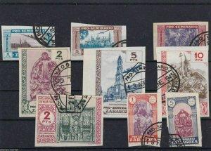 SPAIN ZARAGOZA STAMPS USED , REF 1269