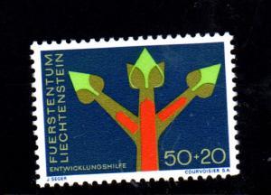LIECHTENSTEIN #B24  1967  GROWTH SYMBOL  MINT  VF NH  O.G