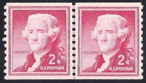 1055S 2 cent Jefferson LP Stamp Mint OG NH EGRADED XF 91 XXF