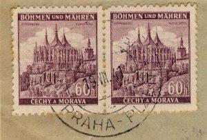 BÖHMEN u. MAHREN - 1941  PRAG-PILSEN / PRAHA-PLZEN  TPO n°82a CDS on Mi.27